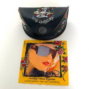 Ed Hardy vintage tattoo  sunglass case